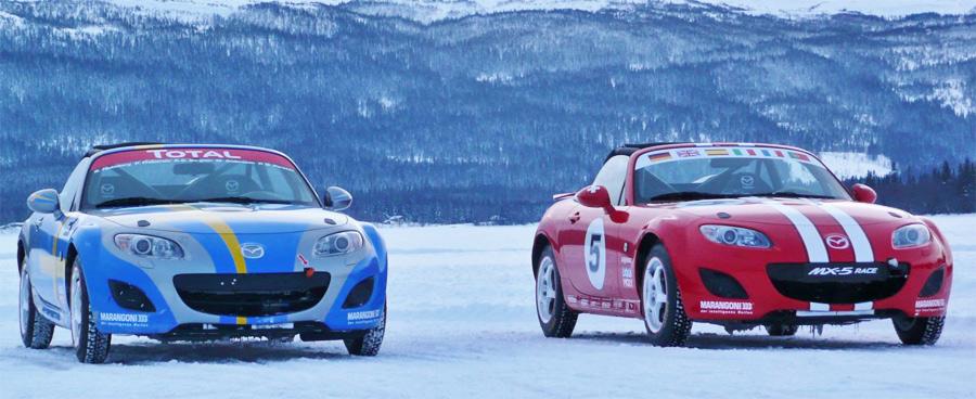 Beim 4-STunden-Eisrennen in Schweden ist auch ein Schweizer Mazda-Team am Start.