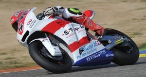 Randy Krummenacher bei seinen ersten Moto2-Testfahrten in Valencia (E)