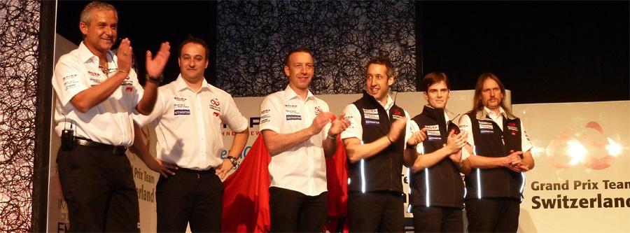Rodrigo und sein Team Grand Prix Racing Switzerland