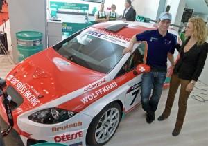 Fredy Barth und Christina Surer bei der WTCC-Team-Präsentation von Seat swiss Racing in Genf