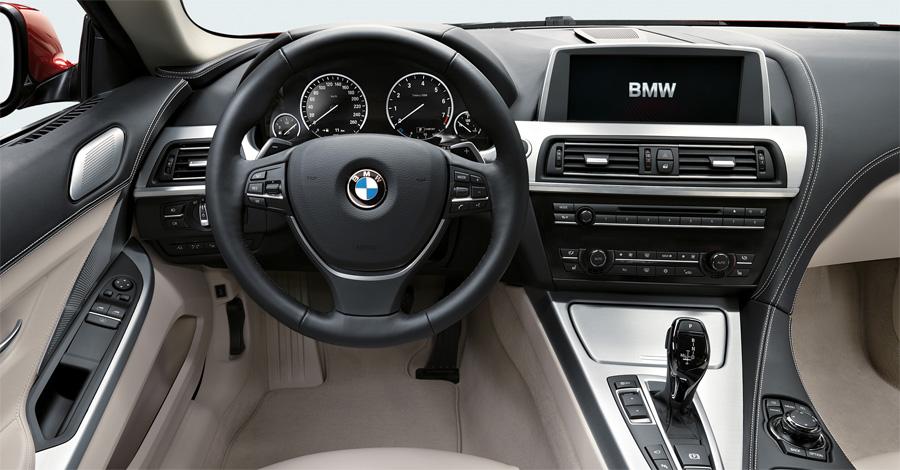 Das Interieur des neuen BMW 6er Coupé ist hochwertig und luxuriös.