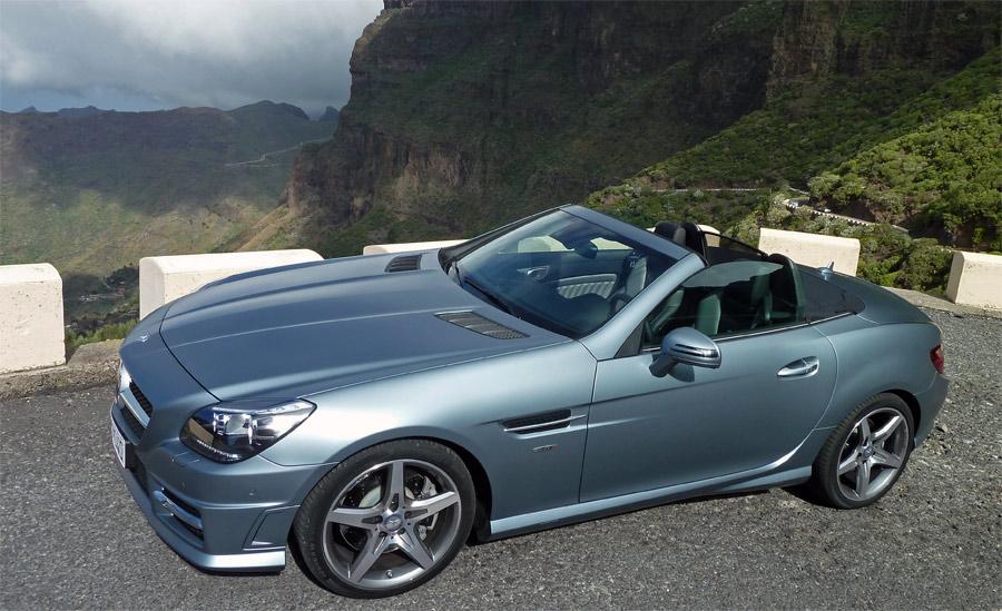 Testfahrt auf Teneriffa: Der neue Mercedes SLK macht in jeder Beziehung eine gute Figur.