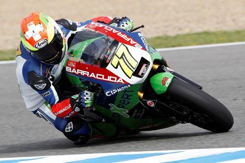 Mit Rang vier bei der Moto2-WM in Estoril erzielte Dominique Aegerter das beste Resultat seiner Karriere.