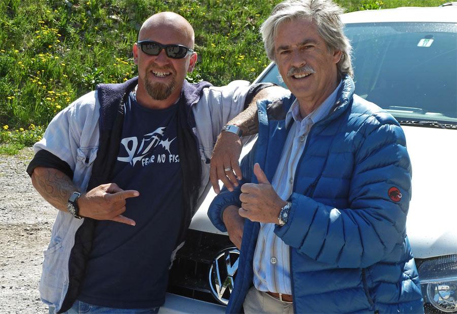 Mit Gölä und dem VW Amarok hatte ich beim Geländefahrtraining in Selisberg viel Spass.