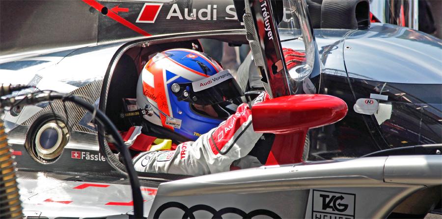 Marcel Fässler fuhr im Audi R18 in Spa das dritte Drittel. Nachdem er als Sechster übernahm, war ein Podiumsplatz schon in weiter Ferne.