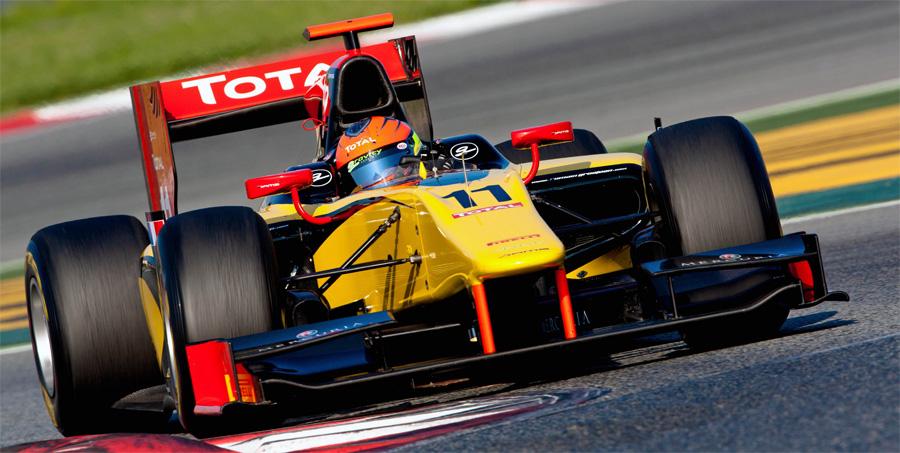 Nach seinem Gesamtsieg in der GP2 Asia fährt Romain Grosjean auch in der Hauptserie fr DAMS.