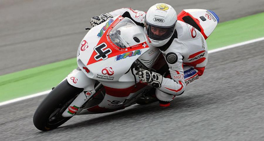 Randy Krummenacher eroberte in Estoril als Siebter für das Team Grand Prix Racing Switzerland die ersten WM-Punkte.