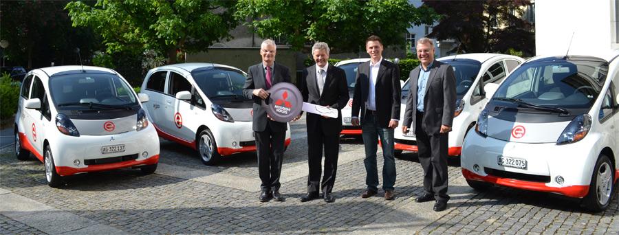 Der japanische Kleinwagen Mitsubishi i-MIEV ist das erfolgreichste Elektrofahrzeug der Schweiz.