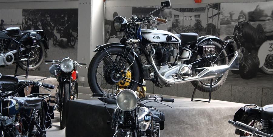 Die Sonderausstellung im Pantheon Basel zeigt viele seltene Motorräder.
