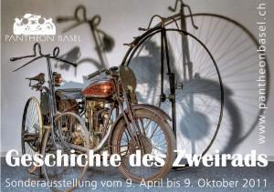 Geschichte des Zweirads, Sonderausstellung im Oldtimerforum Pantheon Basel.
