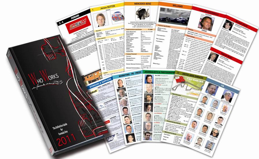 Das 600 Seiten dicke WHO WORKS in formula one ist ein wertvolles Nachschlagewerk über die Formel 1