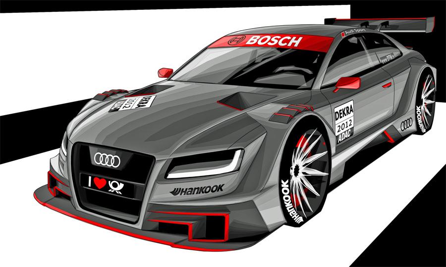 Der neue Audi für die DTM 2012 basiert auf dem Modell A5.