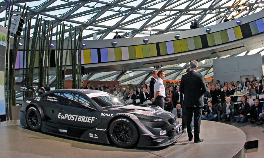 Der Prototyp des BMW M3 DTM wurde erstmals in München bei BMW gezeigt.