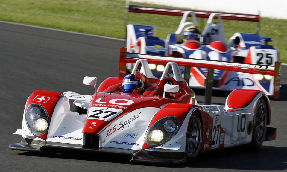 Porsche will 2014 mit einem LMP1-Sportwagen nach Le Mans zurück kehren. Im Bild der letzte Le Mans-Prototyp von Porsche, der RS Spyder des Schweizer Teams Horag Lista mit Pilot Fredy Lienhard.