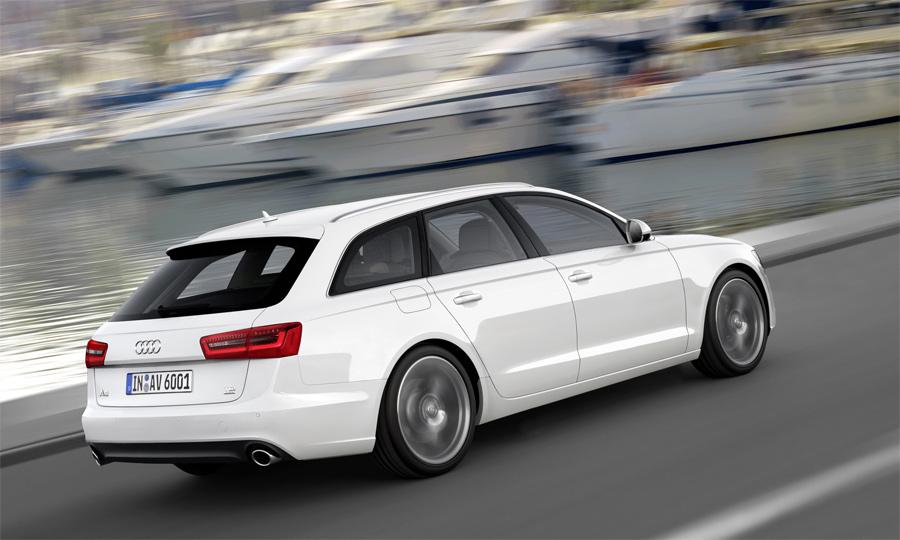 Trotz sportlich abfallender Heckpartie fasst der neue Audi A6 Avant mehr Gepäck als der Vorgänger.