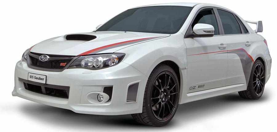 Der Subaru WRX STI «Sauber F1» präsentiert sich in streng limitierter Stückzahl.