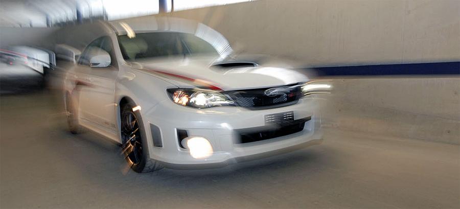 Das limitierte Sondermodell Subaru WRX STI «Sauber F1» gibt es nur in der Teamfarbe Weiss.
