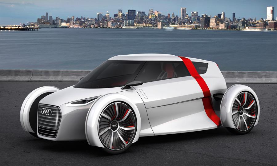 Der futuristische Audi Urban Concept ist ein elektrischer Zweisitzer. Ob er je gebaut wird, ist völlig offen.