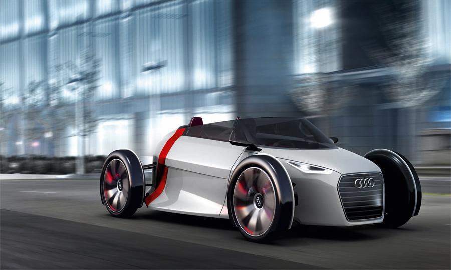 Vom elektrischen Audi Urban Concept wird an der IAA 2011 auch eine Spyder-Version vorgestellt.