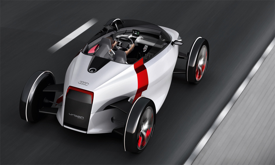 Der nur 480 Kilo leichte Elektro-Zweisitzer Audi Urban Concept verspricht insbesondere als Spyder viel Fahrspass.