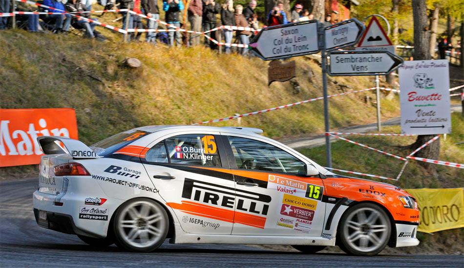 Fehlerlos und routiniert konnte sich Olivier Burri im unterlegenen Mitsubishi Evolution X N4 bis auf den zweiten Zwischenrang vorkämpfen.