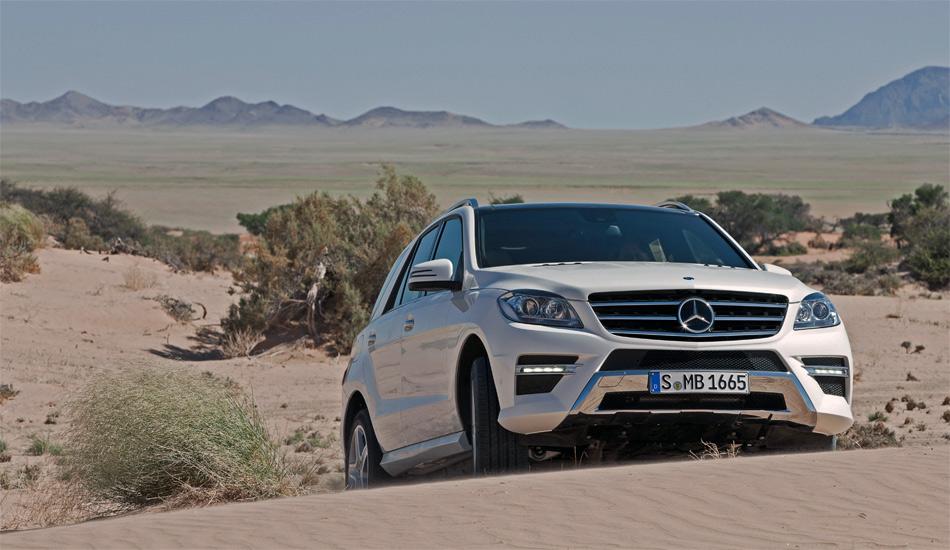 Die neue Mercedes M-Klasse fühlt sich tatsächlich in jedem Gelände wohl. Als Option ist ein Offroad-Paket mit allen Finessen erhältlich.