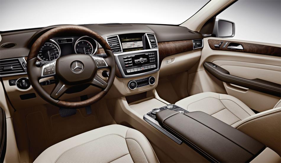 Das Interieur der neuen Mercedes M-Klasse ist funktionell und luxuriös.