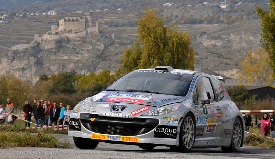 Laurent Reuche und Jean Dériaz (Peugeot 207 S2000) eroberten bei der Rallye du Valais den Gesamtsieg und den Meistertitel