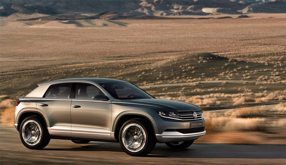 Der neue VW Cross Coupé ist eine Plug-in-Hybrid-Studie mit elektrischem Allradantrieb.