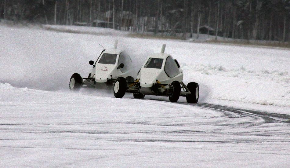 Die 150 PS starken Hecktriebler aus Finnland lassen sich unheimlich quer fahren.