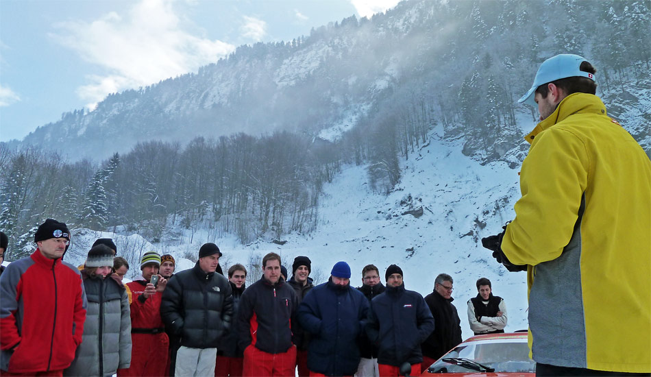 Die FunBoost-Eis-Challenges im schneesicheren Selisberg sind ein tolles Wintermärchen für Autofans.
