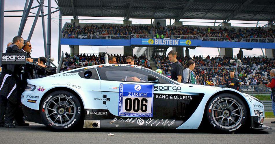 Der vom Team Young Driver AMR eingesetzte Aston Martin Vantage V12 GT3 war eine Zuschauer-Attraktion.