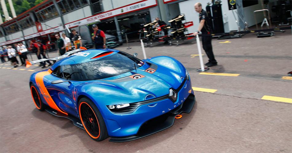 Der in Monaco vorgestellte Alpine-Prototyp basiert auf dem Renault Megane Trophy.