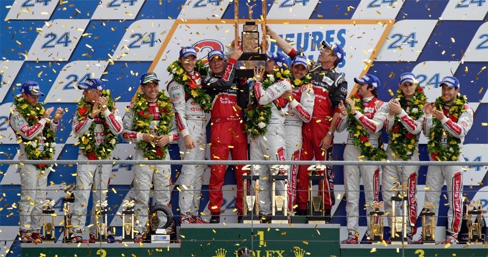 Audi konnte 2012 bei den 24h von Le Mans gleich einen Dreifachsieg feiern.