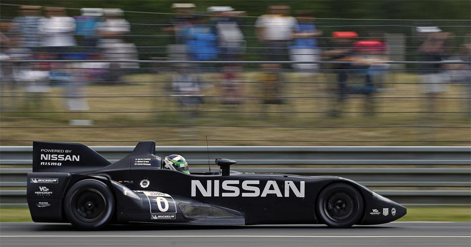 Nissan startet in Le Mans mit dem DeltaWing dank einer Wild Card und mit einem völlig neuartigen Rennwagen-Konzept.