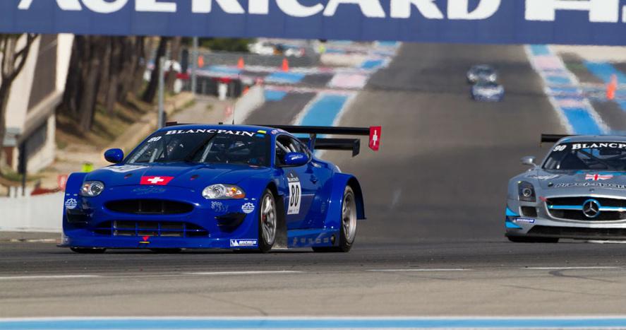 Bei einem Testrennen zur Blancpain Endurance Series in Le Castellet machte der neue Emil Frey GT3 Jaguar gute Figur.