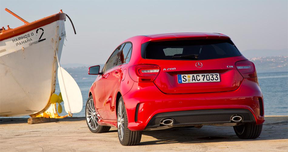 Die neue A-Klasse von Mercedes strahlt Dynamik und Sportlichkeit aus.