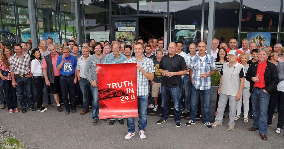 Exklusiv für Freunde und seinen Fanclub feierte in Einsiedeln der Kinofilm Truth in 24 II über den ersten Le Mans-Sieg 2011 von Marcel Fässler Schweizer Premiere.