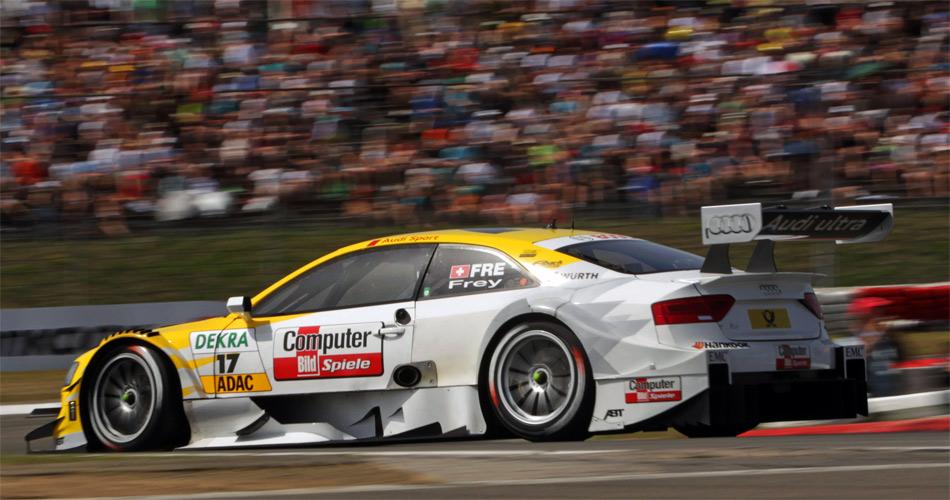 Mit der insgesamt zweitschnellsten Rennrunde hinter Sieger Spengler (BMW) liess Audi-Werkspilotin Rahel Frey auf dem Nürburgring aufhorchen..