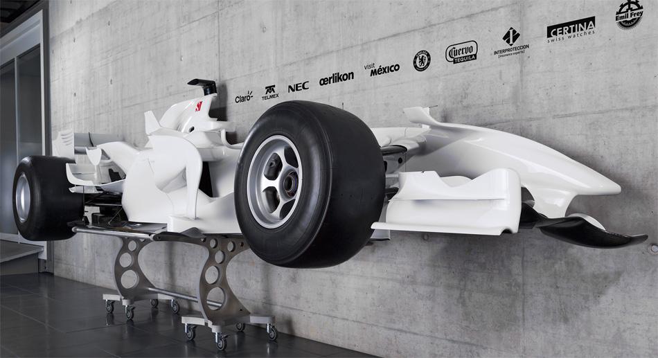 Der aufgeschnittene Sauber Formel 1 ist das bisher erfolgreichste Modell des Hinwiler Teams.