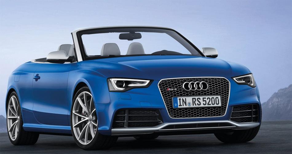 Der offene Audi RS5 Cabriolet strahlt viel Eleganz aber auch sportliche Aggressivität aus.