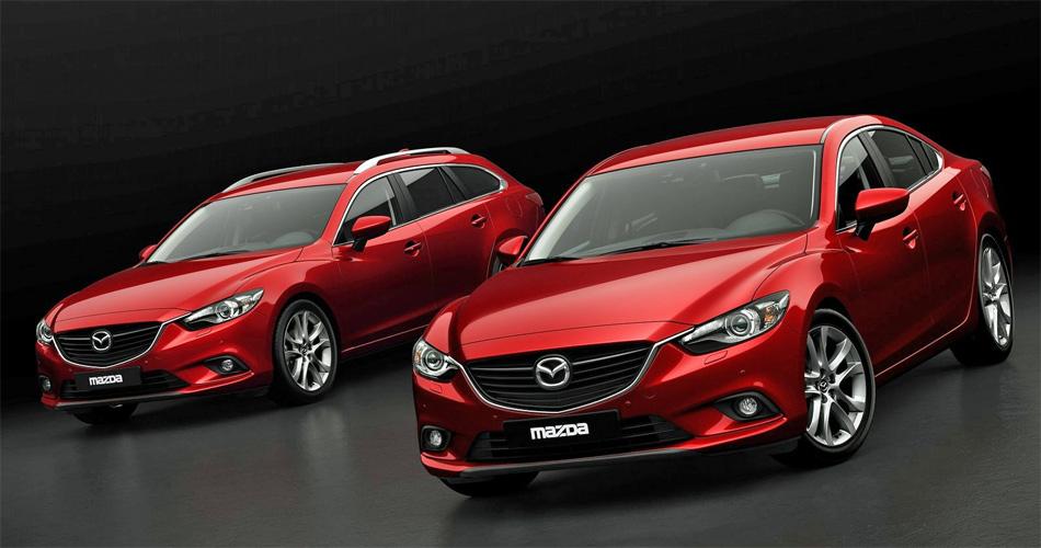 Das Kombimodell des neuen Mazda6 ist gegenüber der Limousine einige Zentimeter kürzer.
