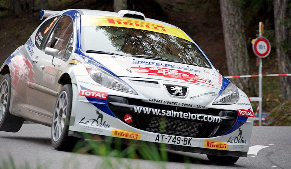 Das Walliser-Team Florian Gonon und Sandra Arlettaz (Peugeot 207 S2000) führen die Rallye Valais 2012 auch nach der zweiten Etappe an.