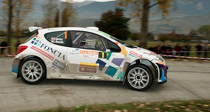 Laurent Reuche/Jean Dériaz (Peugeot 207 S2000) wiederholten ihren Vorjahressieg bei der Rallye du Valais.