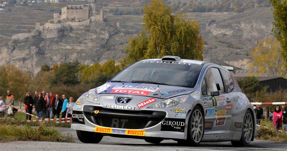 Vorjahresmeister Laurent Reuche (Peugeot 207 S2000) möchte seinen Vorjahressieg im Wallis 2012 wiederholen.