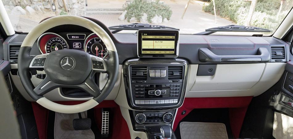 Im Interieur des AMG G 6x6 gibt es standesgemässen Luxus.