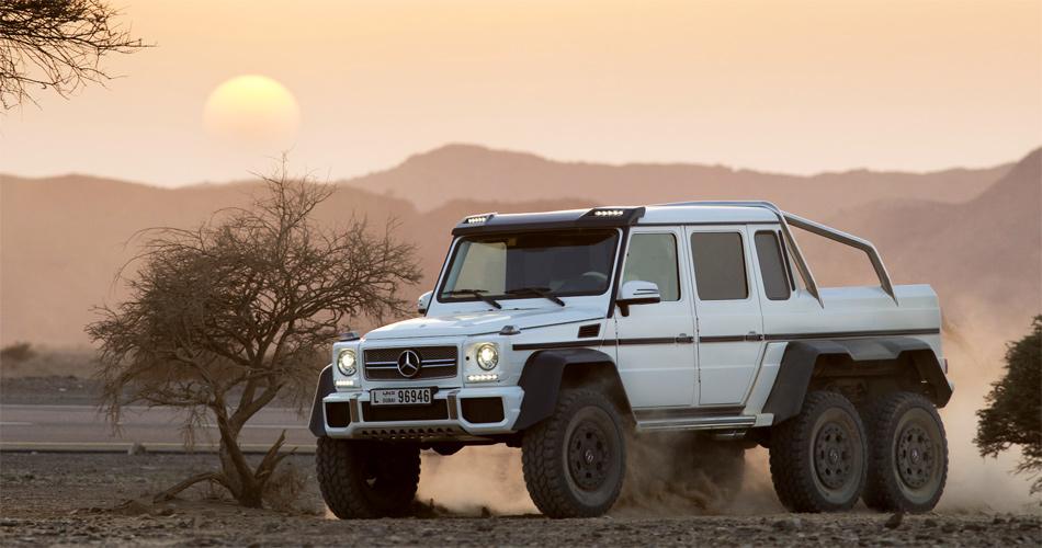 Beeindruckend und luxuriös: Ob der AMG 6x6 in Kleinserie gebaut wird, hängt vom Interesse der Wüstensöhne ab.