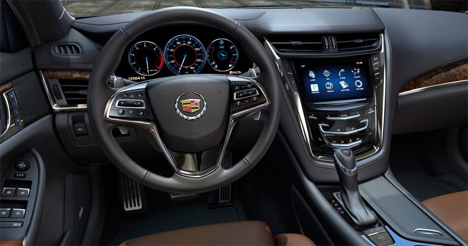Selbstverständlich verwöhnt der Cadillac CTS auch im Interieur mit standesgemässem Luxus.