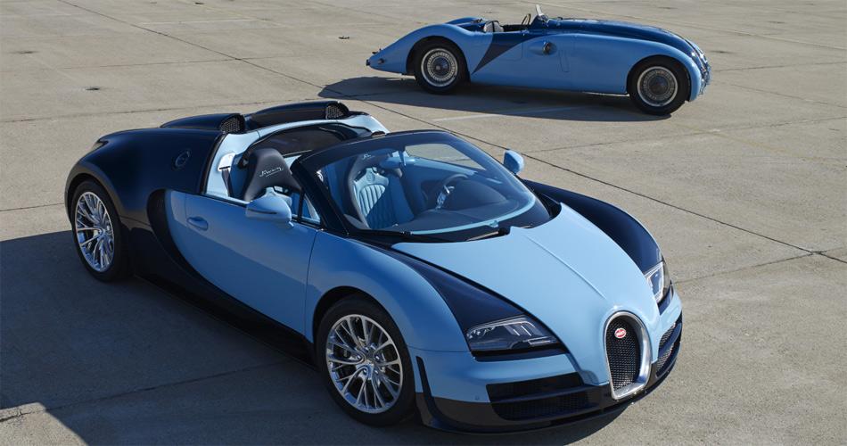 Bugatti Veyron 16.4 Grand Sport Vitesse «Jean Pierre Wimille» und Typ 57 G Tank (1937)