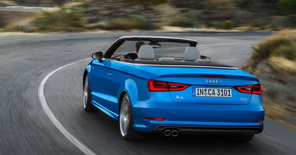 Das neue Audi A3 Cabrio verfügt über ein Stoffdach, das sich auch in Fahrt schliessen lässt.